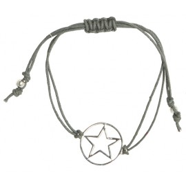 "house doctor Armband Stern ""Star"" Baumwolle Sterling Silber"